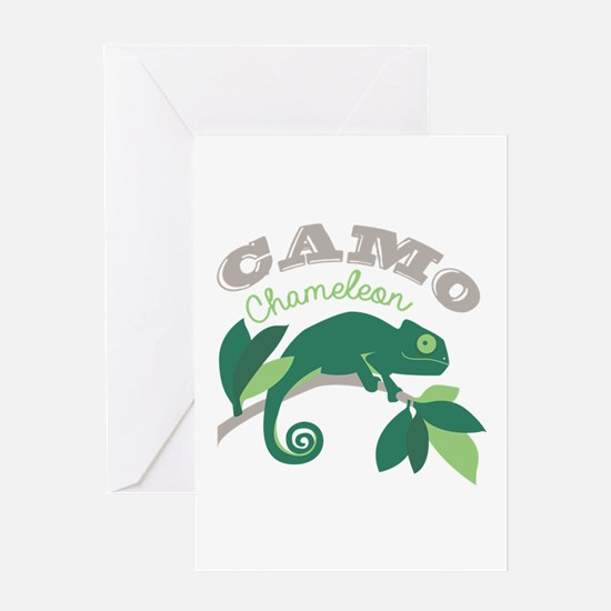 Camo Chameleon Greeting Cards