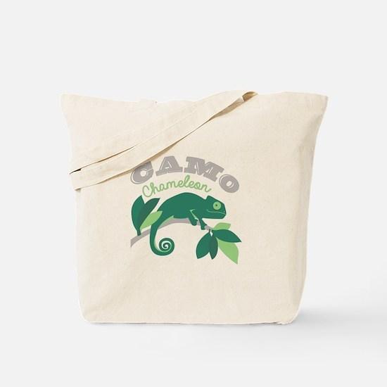Camo Chameleon Tote Bag