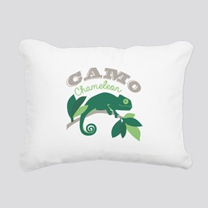 Camo Chameleon Rectangular Canvas Pillow