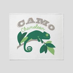Camo Chameleon Throw Blanket