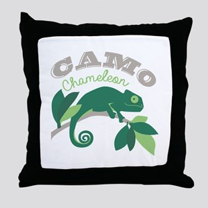 Camo Chameleon Throw Pillow