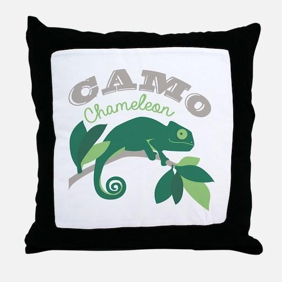 Camo Chameleon Throw Pillow
