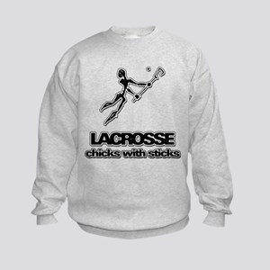 Chicks With Sticks Lacrosse Sweatshirt