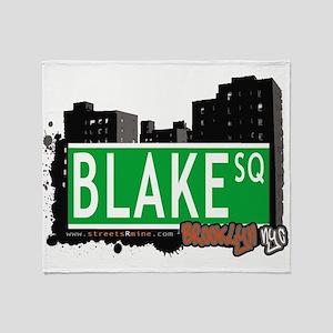 Blake Square, BROOKLYN, NYC Throw Blanket