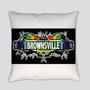 Brownsville Brooklyn NYC (Black) Everyday Pillow