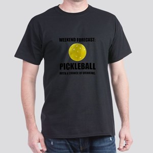 Weekend Forecast Pickleball Drinking T-Shirt