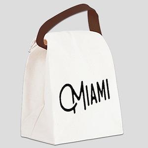 Miami, Florida Canvas Lunch Bag