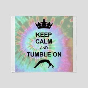 Rainbow Tye Dye Gymnastics Throw Blanket