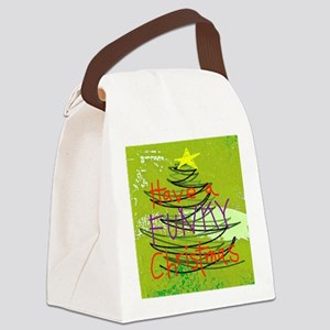 Funky Christmas Canvas Lunch Bag