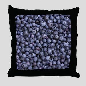 BLUEBERRIES 3 Throw Pillow