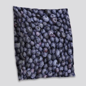 BLUEBERRIES 3 Burlap Throw Pillow