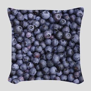 BLUEBERRIES 3 Woven Throw Pillow