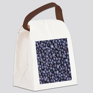 BLUEBERRIES 3 Canvas Lunch Bag