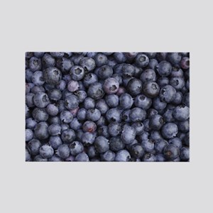 BLUEBERRIES 3 Rectangle Magnet