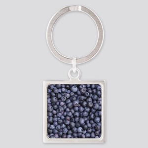 BLUEBERRIES 3 Square Keychain