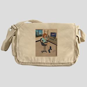 Sexy secretary Pinup Messenger Bag