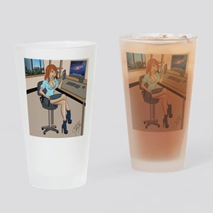 Sexy secretary Pinup Drinking Glass