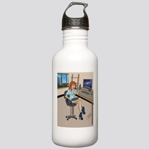 Sexy secretary Pinup Stainless Water Bottle 1.0L
