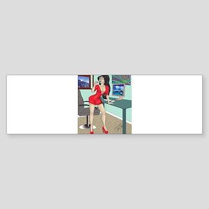 Sexy clerk pinup Bumper Sticker