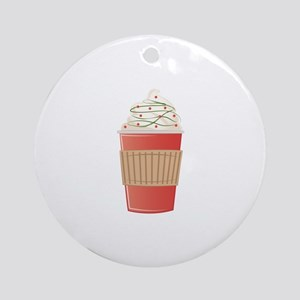 Mint Cocoa Round Ornament