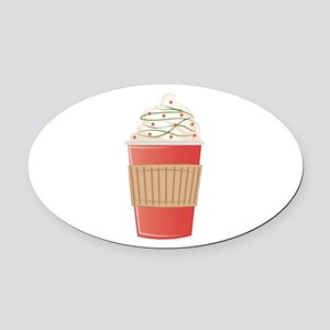Mint Cocoa Oval Car Magnet