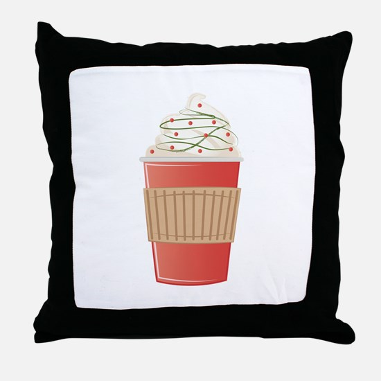 Mint Cocoa Throw Pillow