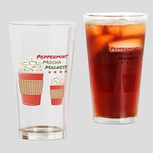 Peppermint Mocha Drinking Glass