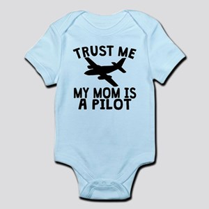 Trust Me My Daddy Is A Pilot Body Suit