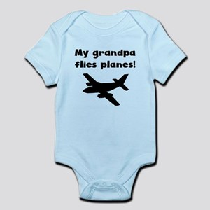 My Grandpa Flies Planes Body Suit