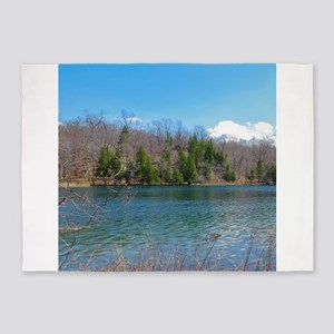 Lake View Scenery 5'x7'Area Rug