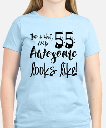 Awesome 55 Years Old Women's Light T-Shirt
