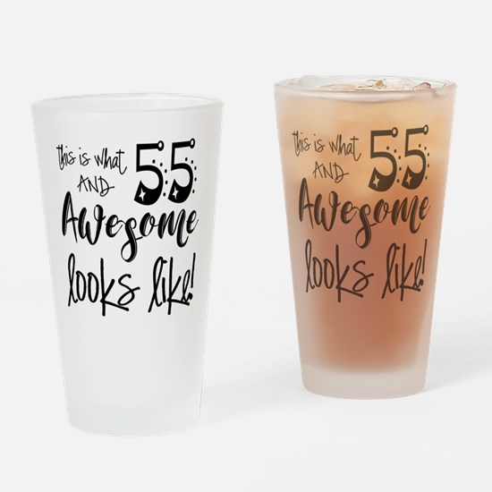 Awesome 55 Years Old Drinking Glass
