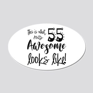 Awesome 55 Years Old 20x12 Oval Wall Decal