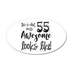 Awesome 55 Years Old Wall Decal