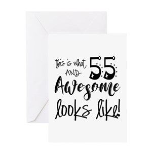55th Birthday Stationery