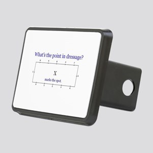 Dressage - X marks the spo Rectangular Hitch Cover
