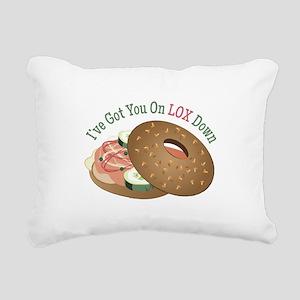 On Lox Down Rectangular Canvas Pillow