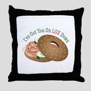 On Lox Down Throw Pillow