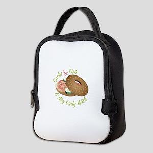 Carbs & Fish Neoprene Lunch Bag