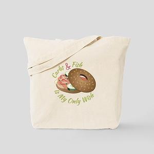 Carbs & Fish Tote Bag