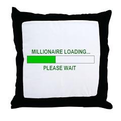 Millioniare loading... Throw Pillow