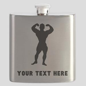 Bodybuilder Silhouette (Custom) Flask
