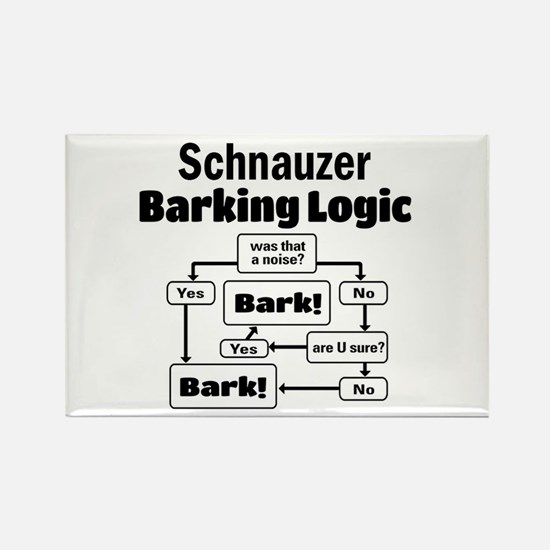 Cute Schnauzer Rectangle Magnet