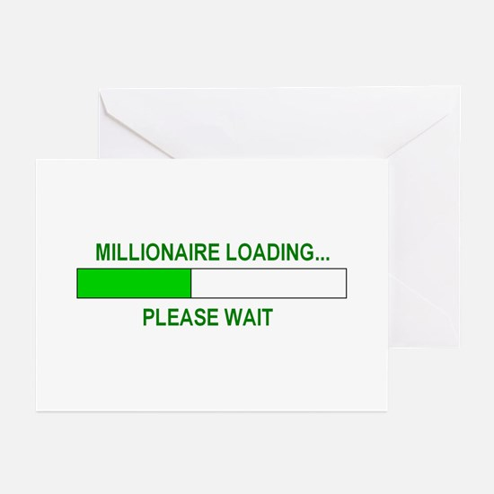 Millioniare loading... Greeting Cards (Pk of 20)