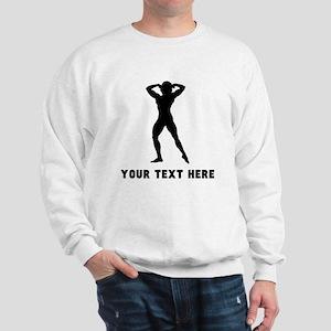 Female Bodybuilder Silhouette (Custom) Sweatshirt