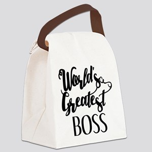 World's Greatest Boss Canvas Lunch Bag