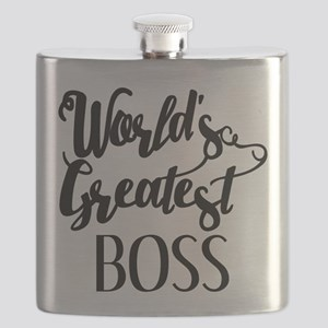 World's Greatest Boss Flask