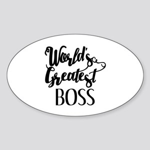 World's Greatest Boss Sticker (Oval)