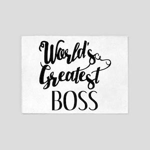 World's Greatest Boss 5'x7'Area Rug