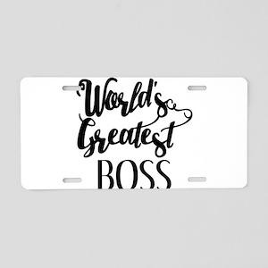 World's Greatest Boss Aluminum License Plate